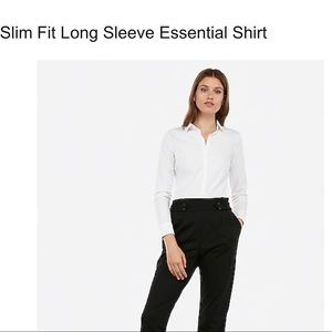 Express Slim Fit Essentials size M True White